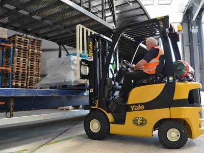 Fork Lift Receiving Material