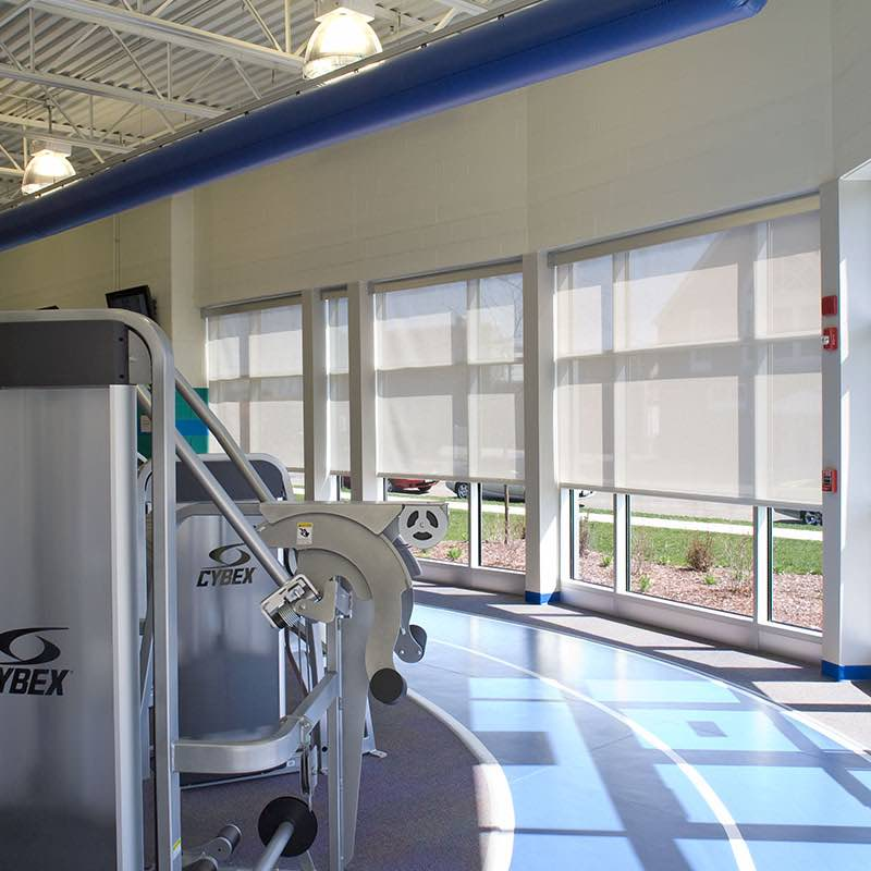 Gym Window Treatments