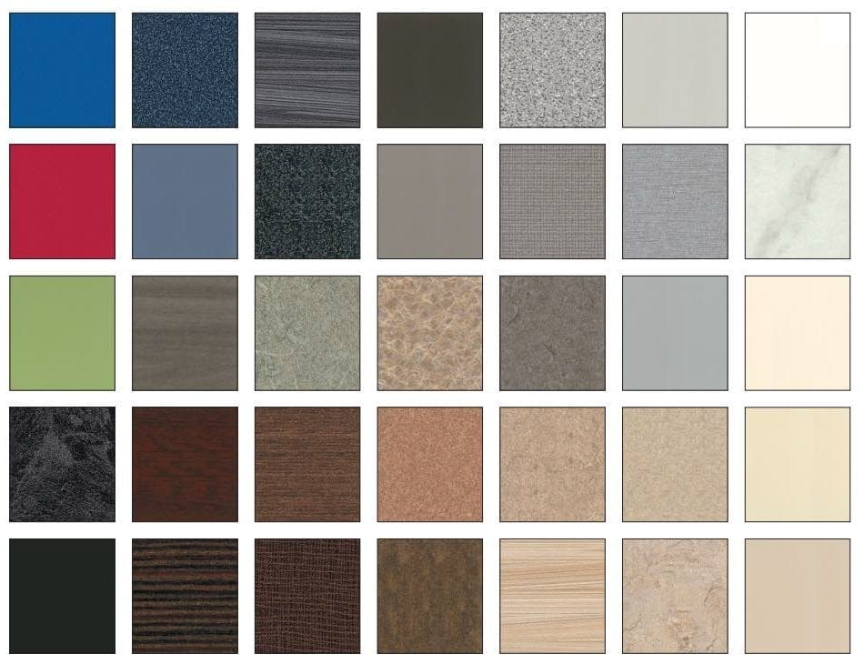 Privada Partitions Color Chart