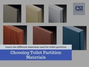 choosing toilet partition materials