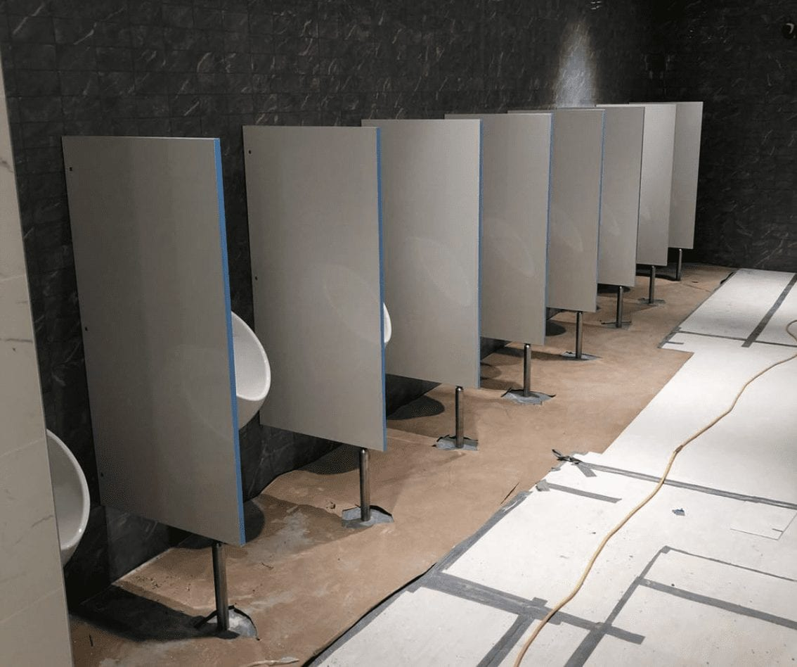 Urinal Screen Installation