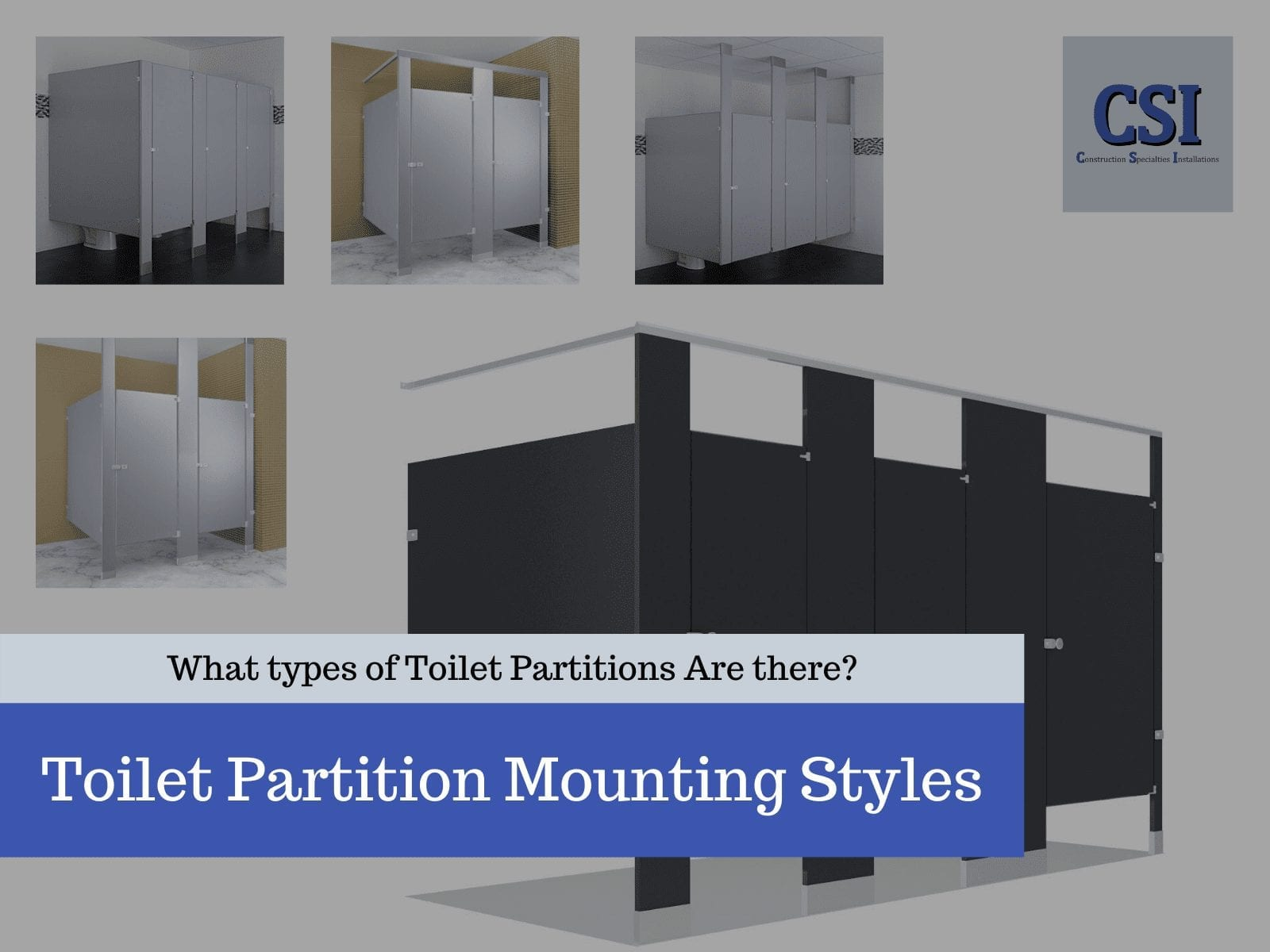 Toilet Partition Mounting Styles