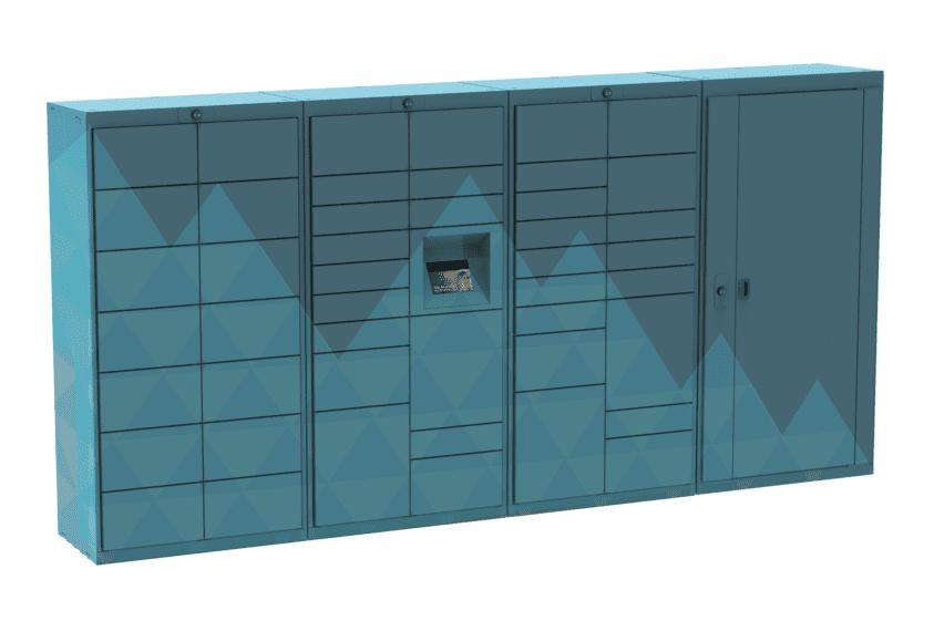 Custom Wrapped Luxer Lockers