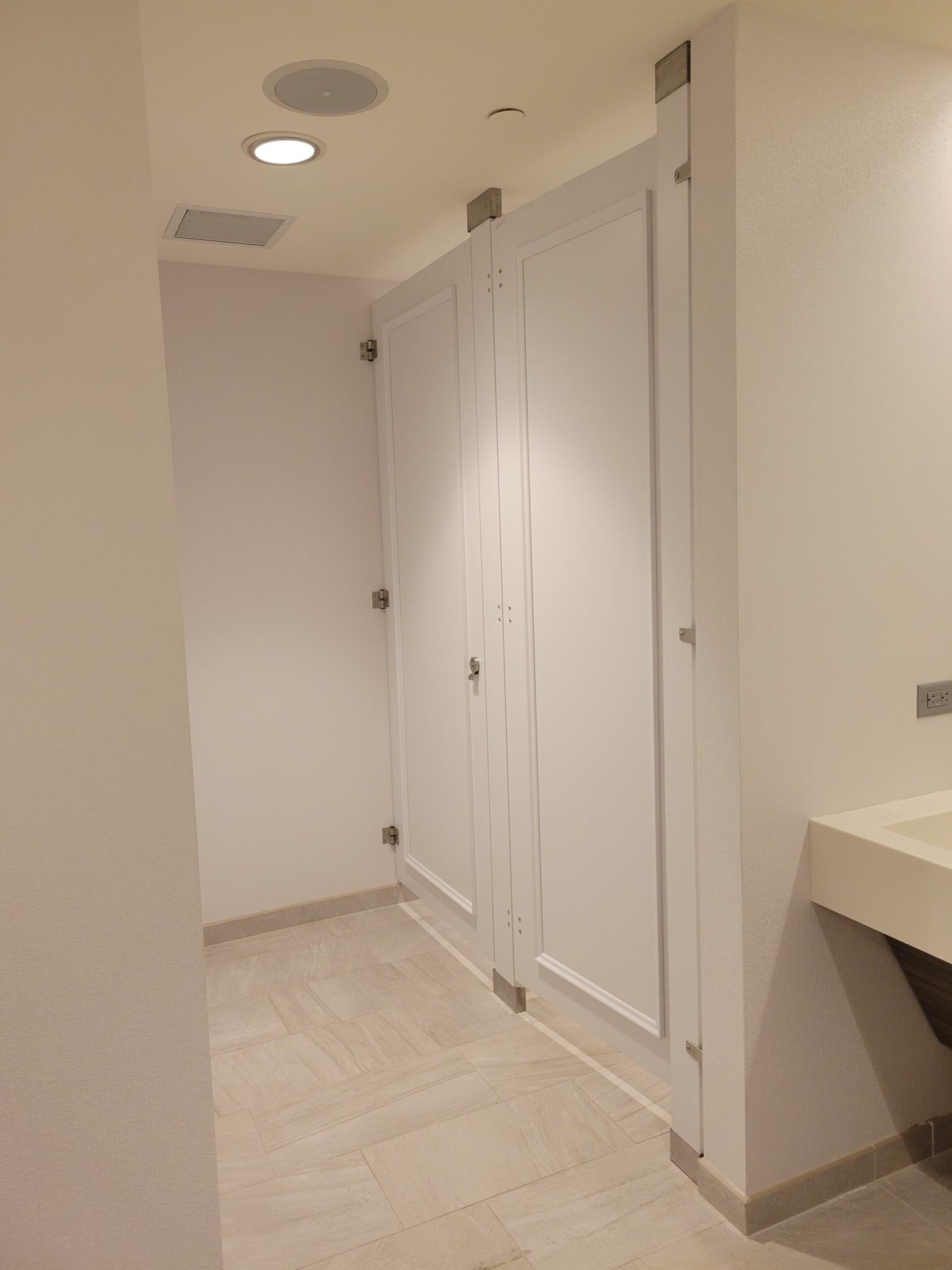 White Toilet Partitions